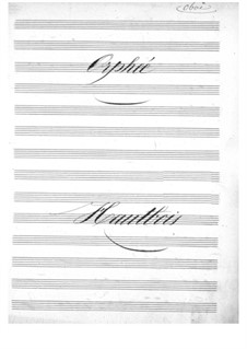 Complete Opera: Oboe part by Jacques Offenbach