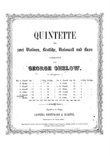 String Quintet No.6 in E Minor, Op.19: Parts by Georges Onslow