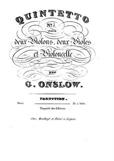 Three String Quintets No.1-3, Op.1: Quintet No.1 – full score by Georges Onslow