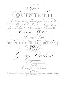 Three String Quintets No.1-3, Op.1: Quintet No.1 – parts by Georges Onslow