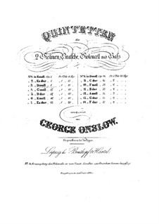 Three String Quintets No.1-3, Op.1: Quintet No.3 – parts by Georges Onslow