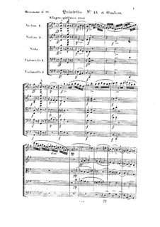 String Quintet No.13 in G Major, Op.35: Full score by Georges Onslow