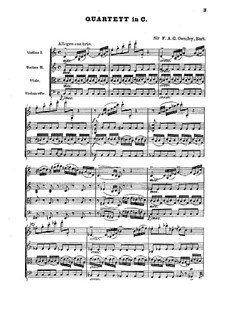 String Quartet in C Major: Full score by F.A. Gore Ouseley