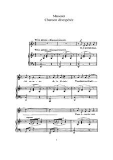Chanson désespérée: In D Minor by Jules Massenet
