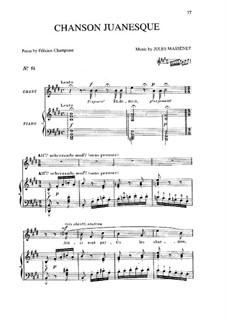 Chanson juanesque: Chanson juanesque by Jules Massenet