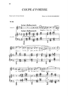 Coupe d'ivresse: In E Flat Major by Jules Massenet