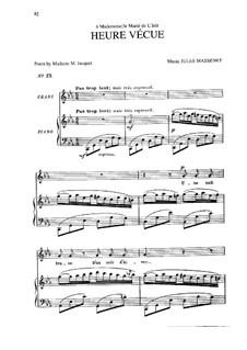 Heure vécue: Heure vécue by Jules Massenet