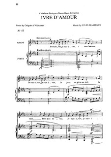 Ivre d'amour: In D Flat Major by Jules Massenet