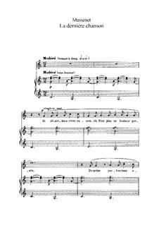 La dernière chanson: In C Major by Jules Massenet