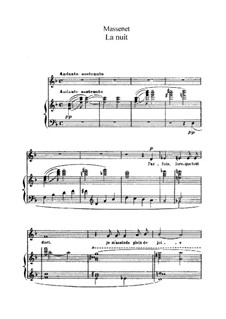 La nuit: In F Major by Jules Massenet