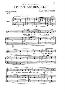 Le noël des humbles: In F Major by Jules Massenet