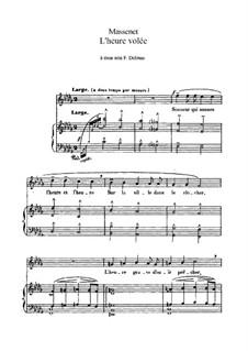 L'heure volée: In B Flat Minor by Jules Massenet