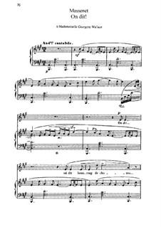 On dit: In A Major by Jules Massenet