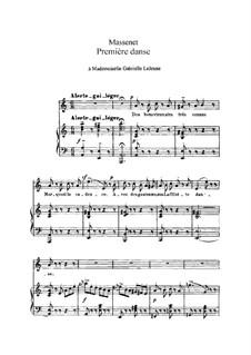 Première danse: In A Minor by Jules Massenet
