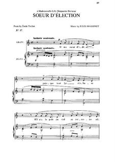 Soeur d'élection: In C Major by Jules Massenet