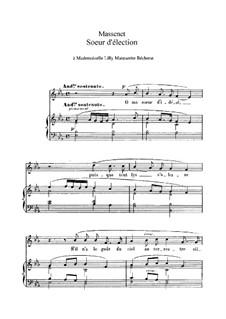 Soeur d'élection: In E Flat Major by Jules Massenet