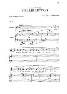 Vieilles lettres: In C Major by Jules Massenet