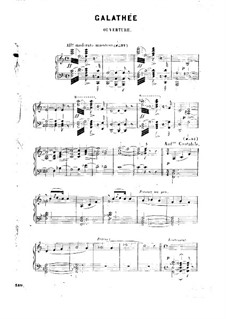 Galathee: Arrangement for piano by Victor Massé