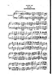 La reine Topaze: Act III. Arrangement for piano by Victor Massé