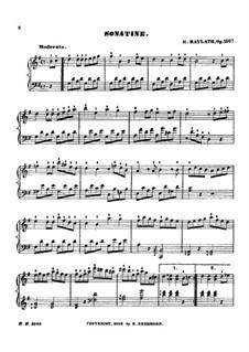 Sonatinas for Piano, Op.150: Sonatina No.1 by Henry Maylath