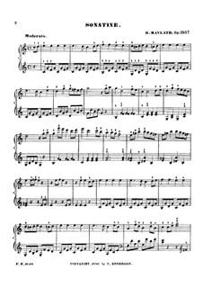 Sonatinas for Piano, Op.150: Sonatina No.3 by Henry Maylath