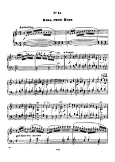 Twelve Favorite Melodies: No.11 Home, sweet home by Henry Maylath