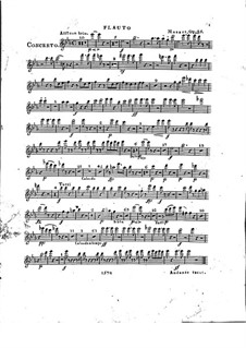 Concerto for Piano and Orchestra No.2 in E Flat Major, Op.25: Flute part by Franz Xaver Wolfgang Mozart