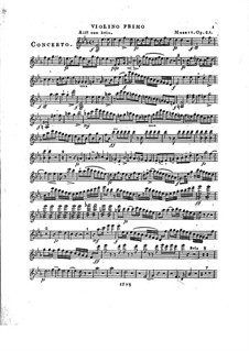 Concerto for Piano and Orchestra No.2 in E Flat Major, Op.25: Violin I part by Franz Xaver Wolfgang Mozart