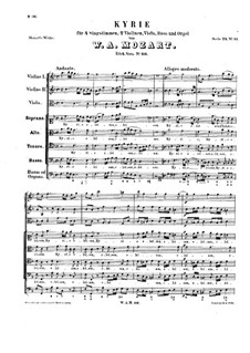 Kyrie in F Major: Kyrie in F Major by Wolfgang Amadeus Mozart