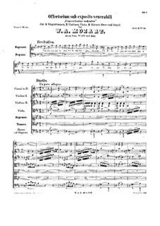 Offertorium sub exposito venerabili, K.177: Offertorium sub exposito venerabili by Wolfgang Amadeus Mozart
