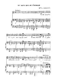 Te Veux Que Je T'oublie: Te Veux Que Je T'oublie by Franz Schubert