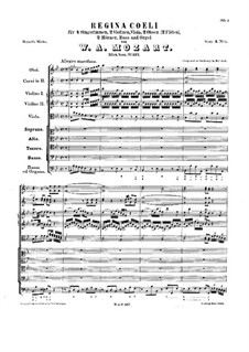 Regina Coeli, K 127 by W A  Mozart - free download on MusicaNeo