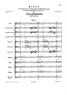 Mass No.4 in C Minor (Missa solemnis), K.139: Mass No.4 in C Minor (Missa solemnis) by Wolfgang Amadeus Mozart
