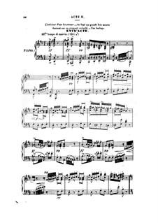 Don César de Bazan: Act II. Arrangement for voices and piano by Jules Massenet