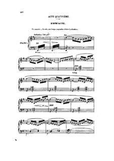 Don César de Bazan: Act IV. Arrangement for voices and piano by Jules Massenet