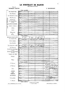 Le portrait de Manon: Le portrait de Manon by Jules Massenet
