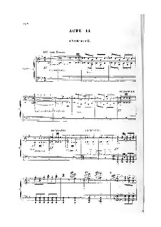 Le roi de Lahore (The King of Lahore): Act II. Arrangement for voices and piano by Jules Massenet