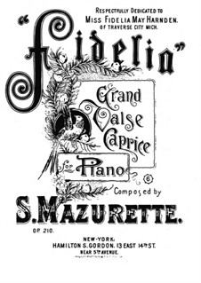 Fidelia, Op.210: Fidelia by Salomon Mazurette