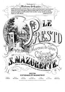 Le Presto, Op.34: Le Presto by Salomon Mazurette