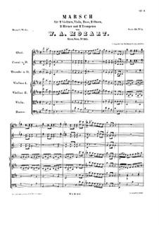 March in D Major, K.215: March in D Major by Wolfgang Amadeus Mozart