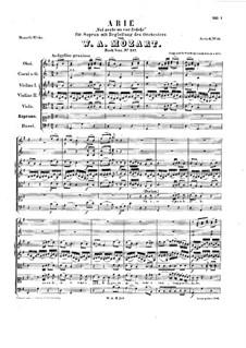 Voi avete un cor fedele, K.217: Voi avete un cor fedele by Wolfgang Amadeus Mozart