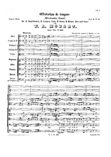Misericordias Domini, K.222: For voices, orchestra and organ by Wolfgang Amadeus Mozart