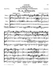 Conservati fedele. Aria for Soprano and Strings, K.23: Conservati fedele. Aria for Soprano and Strings by Wolfgang Amadeus Mozart