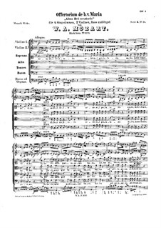Alma Dei creatoris, K.277: Alma Dei creatoris by Wolfgang Amadeus Mozart