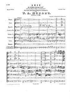 Se al labbro mio non credi, K.295: Se al labbro mio non credi by Wolfgang Amadeus Mozart