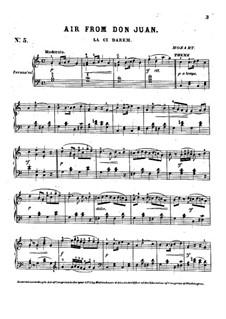 Là ci darem la mano: For piano by Wolfgang Amadeus Mozart