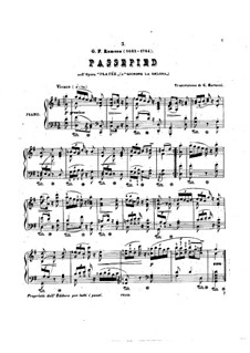 Platée, RCT 53: Passepied, for piano by Jean-Philippe Rameau