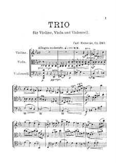 String Trio in C Minor, Op.249: Full score by Carl Reinecke