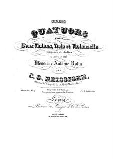 Three String Quartets, Op.111: Quartet No.2 in B Minor – parts by Carl Gottlieb Reissiger