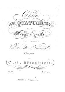 Piano Quartet in A Minor, Op.29: Piano Quartet in A Minor by Carl Gottlieb Reissiger